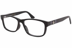 Gucci Web Men's GG0640OA 001 Black Full Rim Rectangular Eyeglasses 55mm