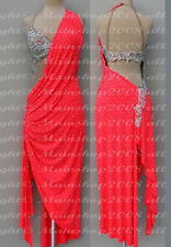 Ballroom Competition Rumba Samba Dance Dress US 6 UK 8 Same Color