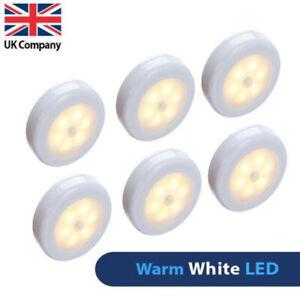 6X LED Motion Sensor Light Wireless PIR Battery Wall Cabinet Stair Night Lamp