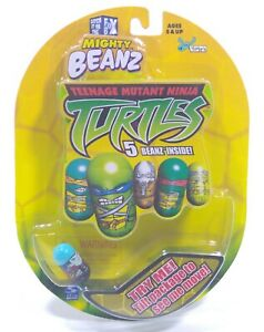 Teenage Mutant Ninja Turtles, Mighty Beanz (2003) in original packaging, TMNT