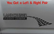 LANDCRUISER TURBO DIESEL 4x4 Tyre Tracks 60 80 100 200 series Sticker PAIR 300mm
