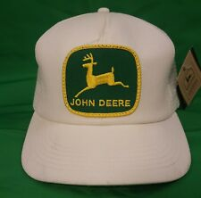 Vintage John Deere K Products Big Patch Snapback Trucker Hat Cap Farmer USA NWT