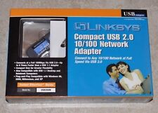 LINKSYS USB200M Compact USB 2.0 10/100 Network Adapter 10/ 100Mbps USB 1 x RJ45
