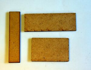 10x2mm MDF Wargame D&D Cavalry Bases Oval/Rectangle/Rounded Rectangle Many Sizes