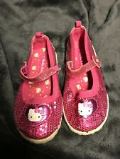 hello kitty toddler girls size 11 pink Sequins/glitter athletic mary janes