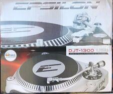 Epsilon - DJT-1300USB - PRECISION POWER Hi Torque Pro DJ Turntable - Silver