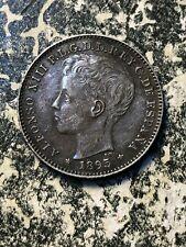 1895 Puerto Rico 20 Centavo Lot#JM1789 Silver! Nice! Scarce!
