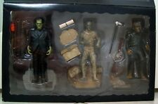 Sideshow Collectibles Frankenstein Mummy & The Wolfman Color Figure Box Set 1998