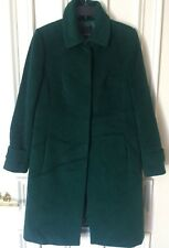 Talbots women's coat green wool alpaca blend size12 padded lining BEAUTIFUL SOFT