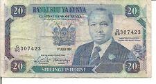 KENYA, 20  SHILLINGS, P#25d, 1991