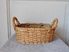 1960s French Vintage ROPE Cord picking Basket