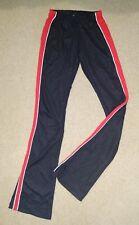 Real Authentic Red Black Cheer High School Cheerleading Varsity Warm Up Pants
