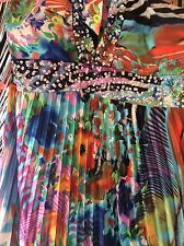 Halter Neck Maxi Dress Evening Gown Embellished Coloured Sequin Prom Size UK 14