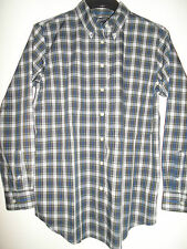"LANDS END BLUE CHECKED SHIRT SIZE S (36"")"