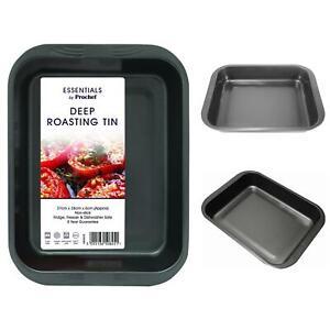 Non Stick Deep Roasting Tray Oven Turkey Roast Carbon Steel Dish Bakeware Pan