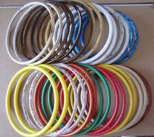 "15 Pair 8"" Round Plastic Macrame Marbella Purse Handles Dreamcatcher Rings Hoops"
