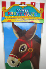 PIN THE TAIL ON THE DONKEY PARTY GAME BIRTHDAY CARNIVAL CHILDS KIDS BOYS GIRLS