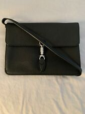 Gucci Black Jackie Cross Body Soft leather Convertible wallet clutch