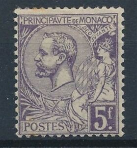 [39880] Monaco 1920/21 Good RARE stamp Very Fine MH but rust V:$280