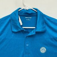 Volkswagen Men's Golf Polo Blue Large NWT