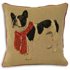Paoletti Frenchie French Bulldog Piped Cushion Cover Red 45 X 45 Cm