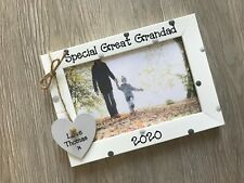 Personalised Great Grandad Happy Fathers Day Picture Photo Frame Keepsake Gift