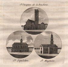 PARIS. Saint-Jacques de la Boucherie; Saint-Sépulchre; Saint-Magloire 1808