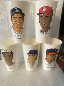 1973 7-11 Slurpee Cup Lot of  5 - Bob Gibson, Joe Pepitone, Ralph Garr, May, Hen