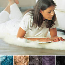 Genuine Sheepskin Rugs Thick Lush Leather Fur Pelt Many Colors + Sizes