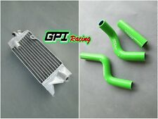 aluminum radiator &green silicone hose for KAWASAKI KX80 KX85 KX100 1998-2009