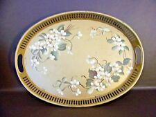 Vintage Hand Decorated Tole Ware Tray By Pilgrim Art