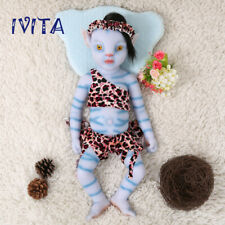 IVITA 20'' Full Silicone Reborn Doll Eyes Closed Sleeping Avatar Baby Girl 2900g
