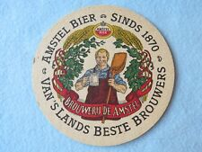 Beer Brewery Coaster ~ AMSTEL Bier Since 1870 ~ Best Brewers in the Netherlands