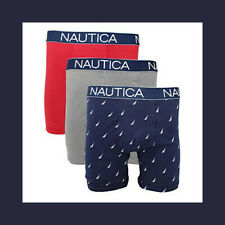 Nautica Men's 3 Pack of Assorted Stretch Boxer Briefs (Retail $46.64)