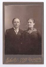 VINTAGE CABINET PHOTO OF A MAN & WOMAN BY SCHULTZ CHICAGO ILL