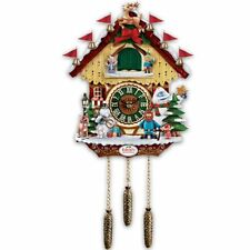 Rudolph The Red Nosed Reindeer 50 Anniversary Cuckoo Clock by Bradford Exchange