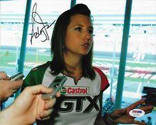 Ashley Force Hood Signed 8x10 Photo Autographed PSA/DNA COA NHRA AC15307