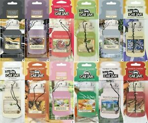 Yankee Candle Car Jar Car Air Freshener *Choice Of  20 Scents*Free Fast Postage
