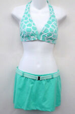 JAG Aqua Halter Skirted Bikini Swimsuit S Cup C NEW