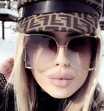 "Big Aviator  XXL ""JENNER"" OVERSIZED Metal Gradient Women Sunglasses Shadz GAFAS"
