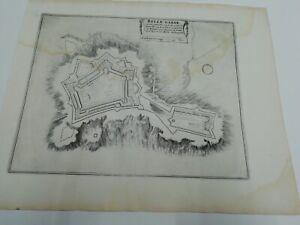 1696. Plan der Stadt /Festung  Belle-Garde in Frankreich. Nicolas de Fer