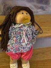 New ListingCabbage Patch Kid Girl Doll Brown Hair Brown Eyes Pacfier 1978, 1982