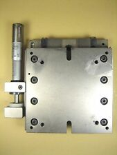 "Linear Stage w/ Lansing Micrometer  4"" x 4"" x 1"" HT"