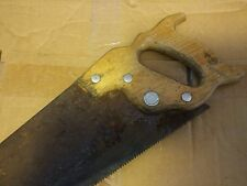 000 Vintage Warranted Superior 28.5 inch Hand Saw Woodworking Tool