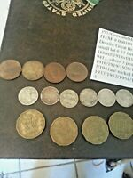 UK GB GREAT BRITAIN 3 pence and farthings lot#53 060109