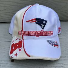 New England Patriots Baseball Hat White Reebok NFL Football Super Bowl 36 Brady