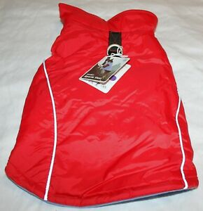Gooby Dog Reflective Fleece Lined Sports Vest w/Leash Ring SMALL BREED Size XL