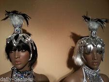 "SEXY MIRROR Head-Dress/ Piece""LADY GAGA""- ROBOT Clothes Brazilian SAMBA Carnival"
