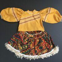 Vintage Doll Dress 2 piece for 22 inch Doll Aztec Southwest Cute