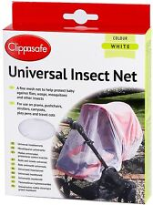 Clippasafe Universale Carrozzina/Passeggino/Passeggino insetti Net/Mesh bianco sicurezza BN
